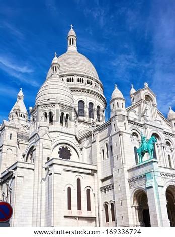Basilica Sacre Couer at Montmartre in Paris, France - stock photo