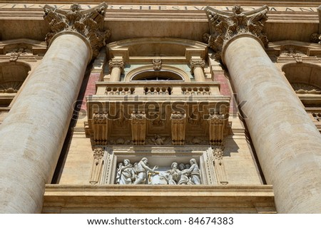 Basilica San Pietro in Rome in Italy - stock photo