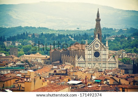 Basilica Santa Croce, Florence, Italy - stock photo