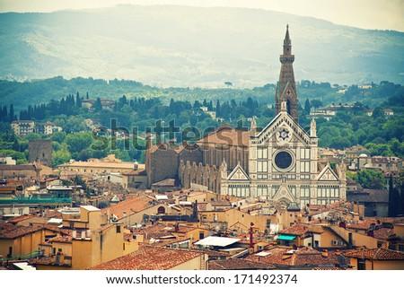 Basilica Santa Croce, Florence, Italy - stock photo