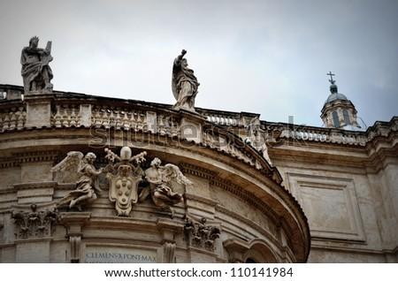Basilica Santa Maria Maggiore, Rome - stock photo