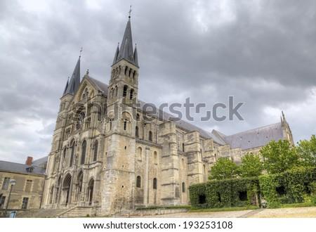 Basilique Saint-Remi. Reims, France - stock photo