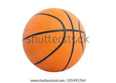 basket ball isolated on the white background - stock photo