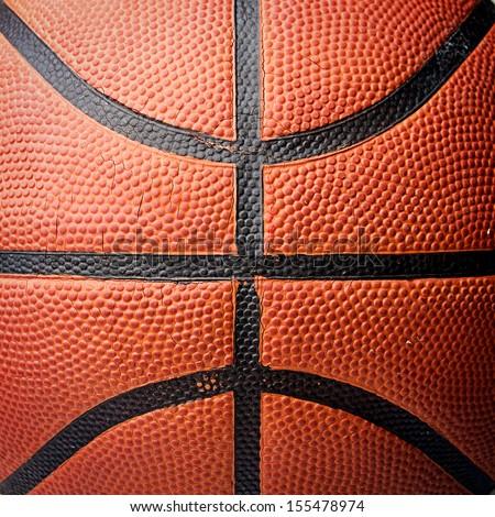 Basket ball texture - stock photo