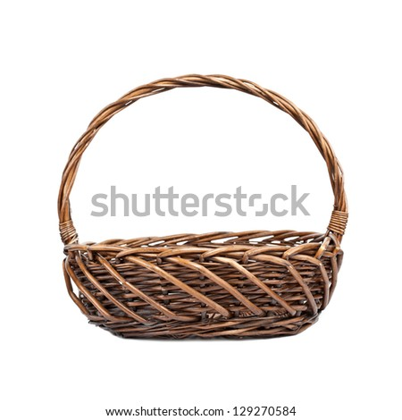 Basket for picnic on white background