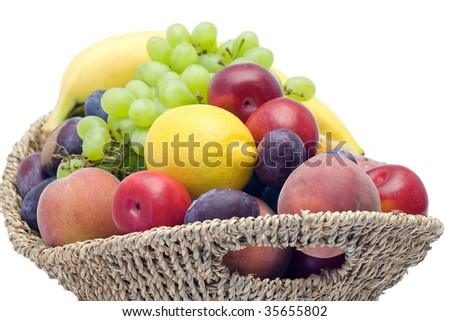 basket full of fresh fruits