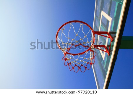 Basket hoop and Blue sky