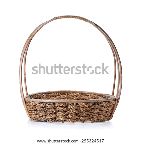 basket isolated on white background, empty basket