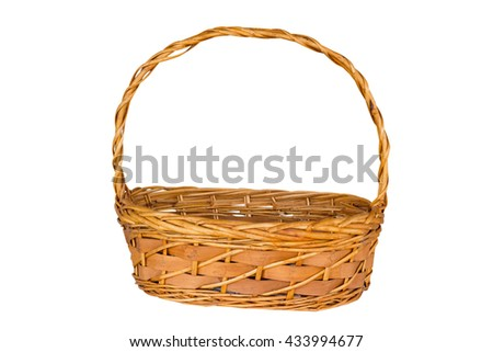 basket isolated with clipping path