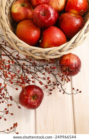 Basket of red apples - stock photo
