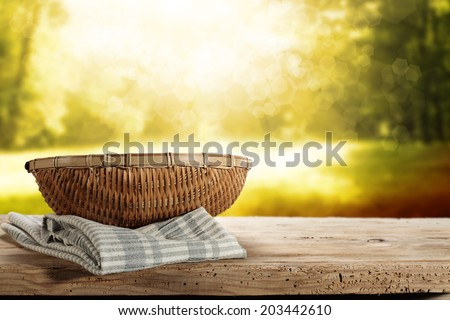 basket of summer  - stock photo