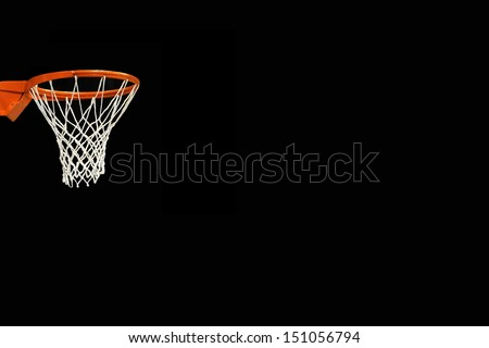 Basket on black background (room to write) - stock photo