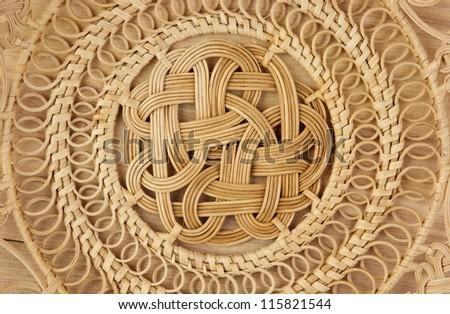 Basket wicker is handmade background - stock photo