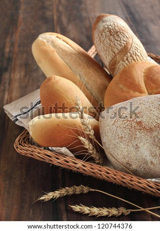 Basket with bread