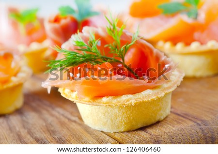 basket with salmon