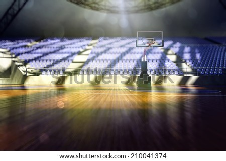basketball arena render - stock photo