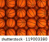 Basketball background (high resolution computer generated image) - stock photo