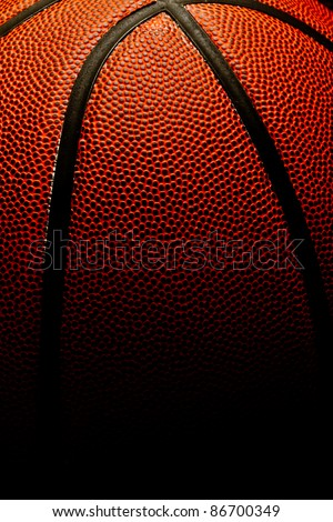 Basketball background with fade to black - stock photo