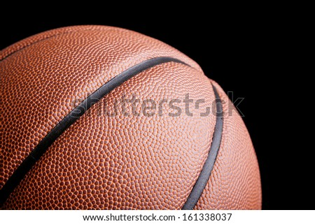 Basketball ball against dark background