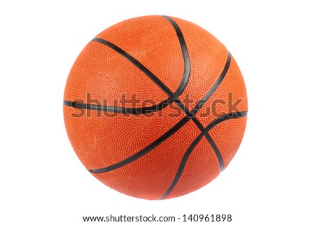 basketball ball, isolated in white background - stock photo