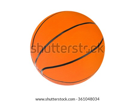 Basketball ball isolated on a white background - stock photo