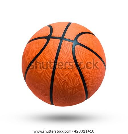 Basketball ball over white background. isolated. orange color Basketball. - stock photo