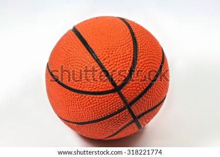 Basketball ball  white background - stock photo