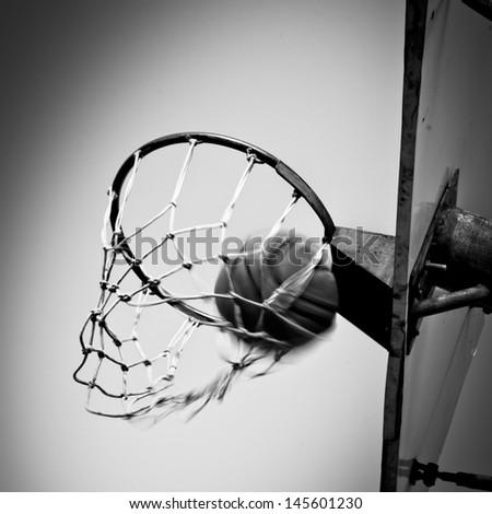 Basketball basket - stock photo