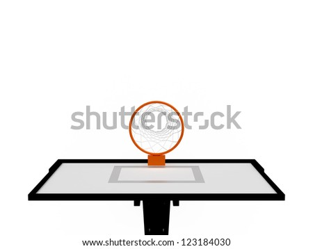 Basketball basket, top view, isolated on white background. - stock photo