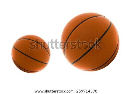 Basketball big and small - stock photo