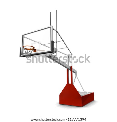 Basketball Computer generated 3D illustration