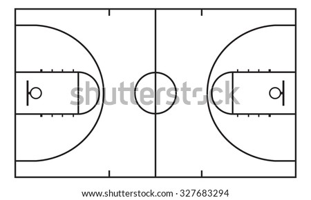 Basketball court. Background for sport strategy.  - stock photo