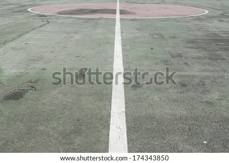 Basketball Court ,Concrete Sport Field - stock photo