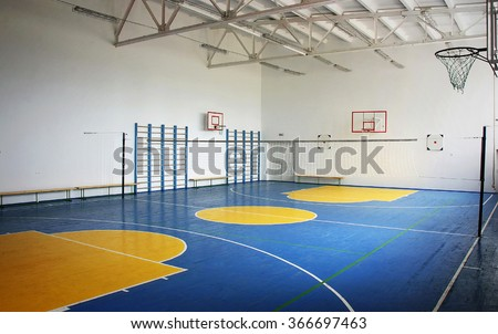 School gym stock images royalty free images vectors for Free inside basketball courts