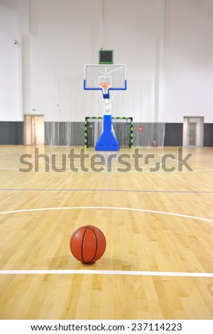 Basketball court, sports hall