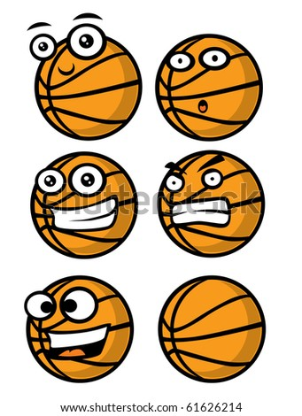 basketball faces emotions - stock photo