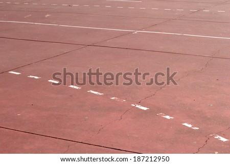 Basketball field background - stock photo