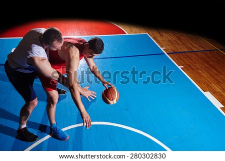 basketball game sport multinational player in action - stock photo