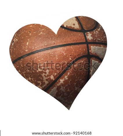 basketball heart - stock photo