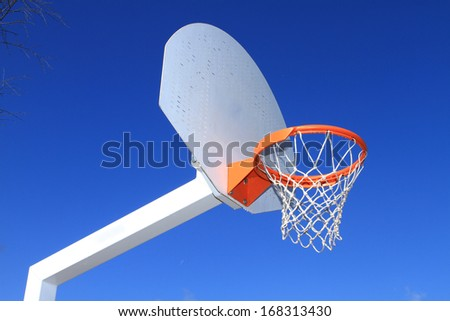 basketball hoop, collective sport, park - stock photo