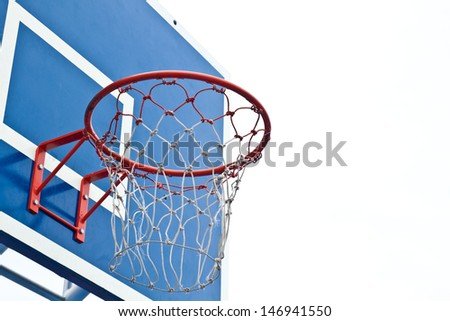Basketball  Hoop on white background.