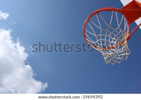 Basketball Hoop with room for copy