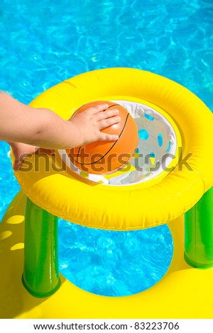 basketball in a pool - stock photo