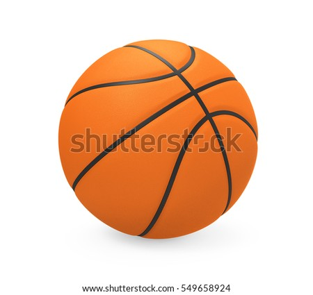 Basketball Isolated. 3D rendering