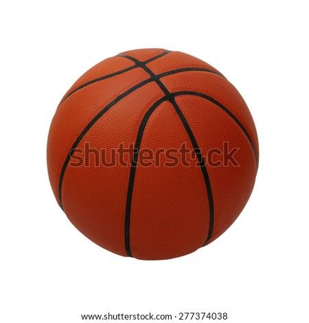 Basketball isolated on a white background - stock photo