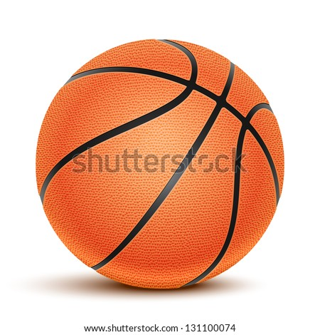 Basketball isolated on a white background. Fitness symbol