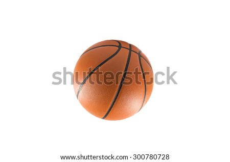 Basketball isolated on a white background,One Basketball - stock photo