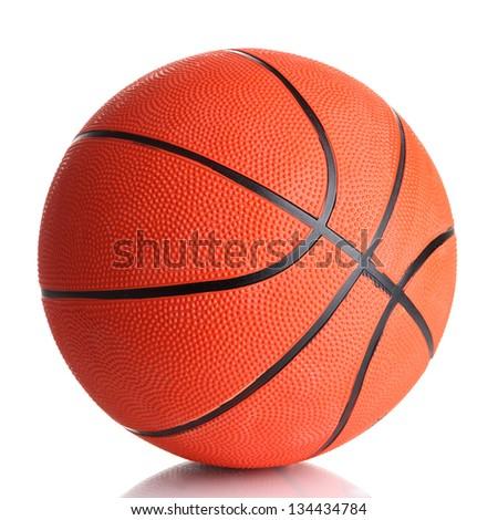 Basketball isolated on white - stock photo