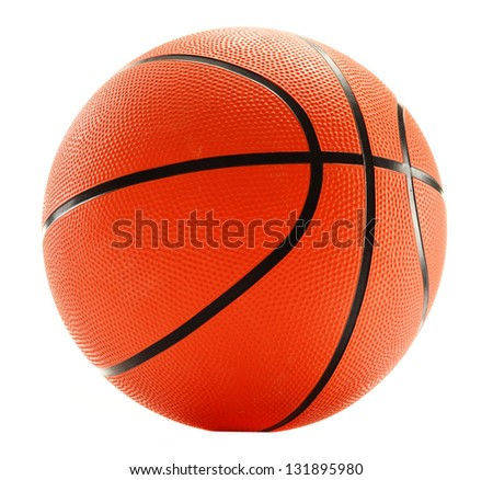 Basketball isolated on white background - stock photo