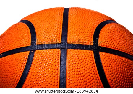 Basketball isolated on white background. - stock photo